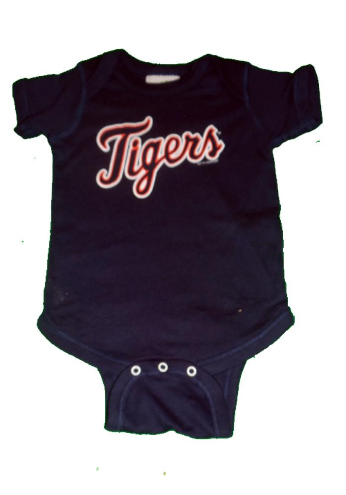 Detroit Tigers Baby Navy Blue One Piece Short Sleeve One Piece - Image 2