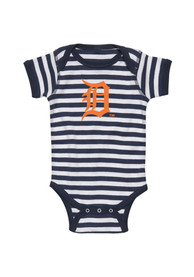 Detroit Tigers Baby Navy Blue One Piece