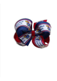 Kansas Jayhawks Overlap Hair Ribbons