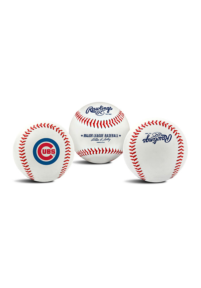 Chicago Cubs Replica Team Logo Baseball - Image 1