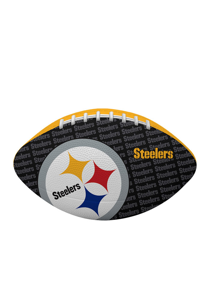 Pittsburgh Steelers Gridiron Junior Rubber Football - Image 1