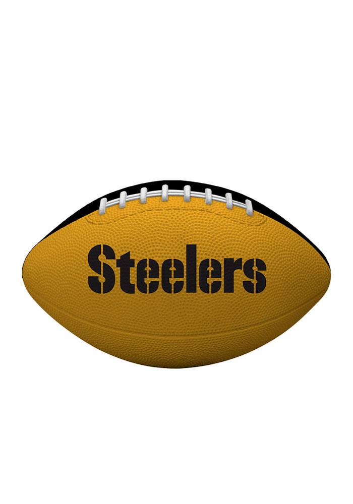 Pittsburgh Steelers Gridiron Junior Rubber Football - Image 2