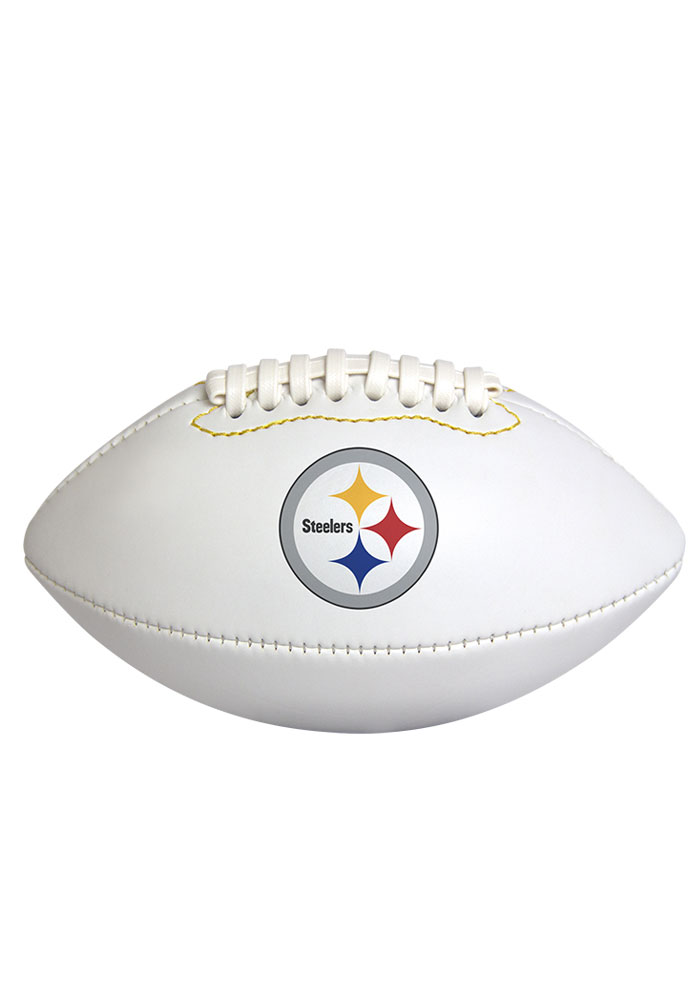 Pittsburgh Steelers Official Team Logo Autograph Football - Image 1