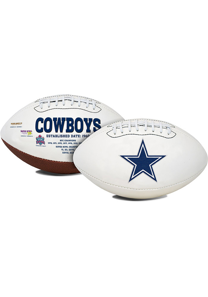 Dallas Cowboys Official Team Logo Autograph Football - Image 1