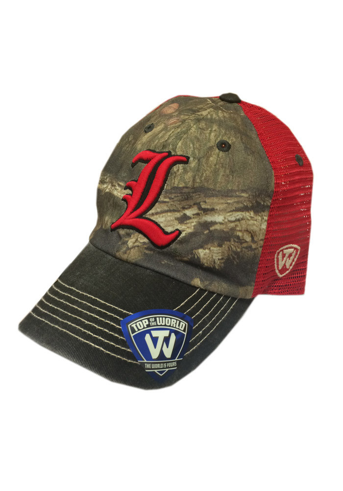 Top of the World Louisville Cardinals Mens Green 8-Point Adjustable Hat - Image 1