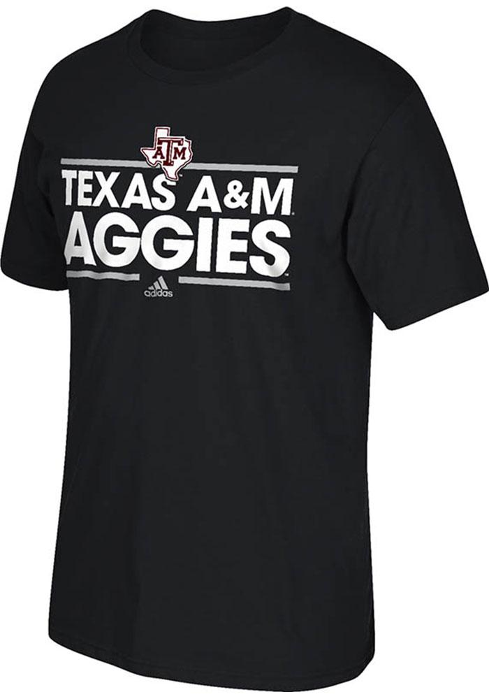 Adidas Texas A&M Aggies Black Dassler Tee