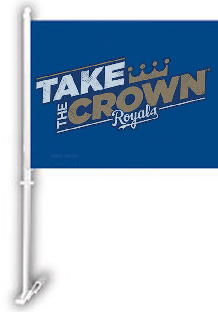 Kansas City Royals Take the Crown Car Flag - Blue - Image 1