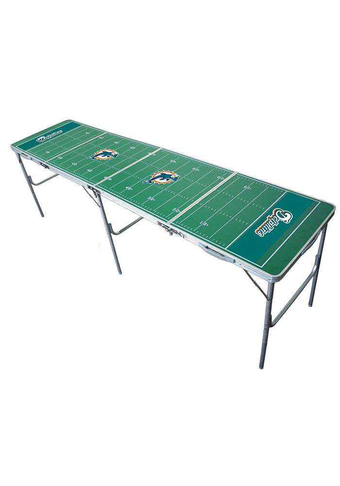 Miami Dolphins 2x8 Tailgate Table - Image 1