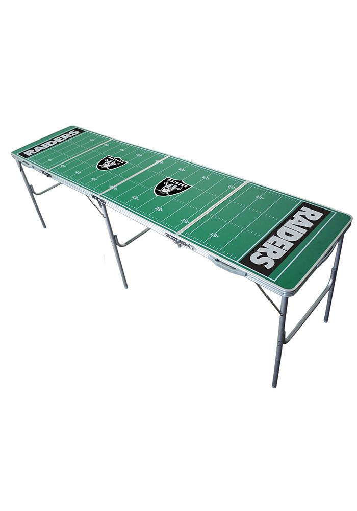 Oakland Raiders 2x8 Tailgate Table - Image 1