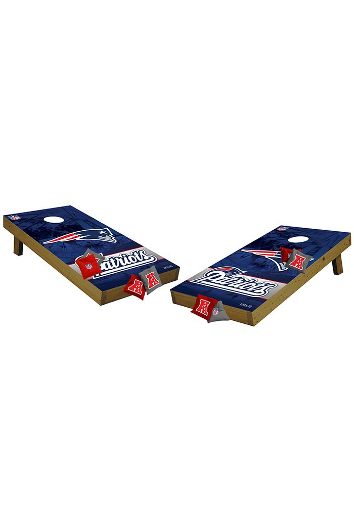 New England Patriots 48x24 Cornhole Shields Tailgate Game - Image 1