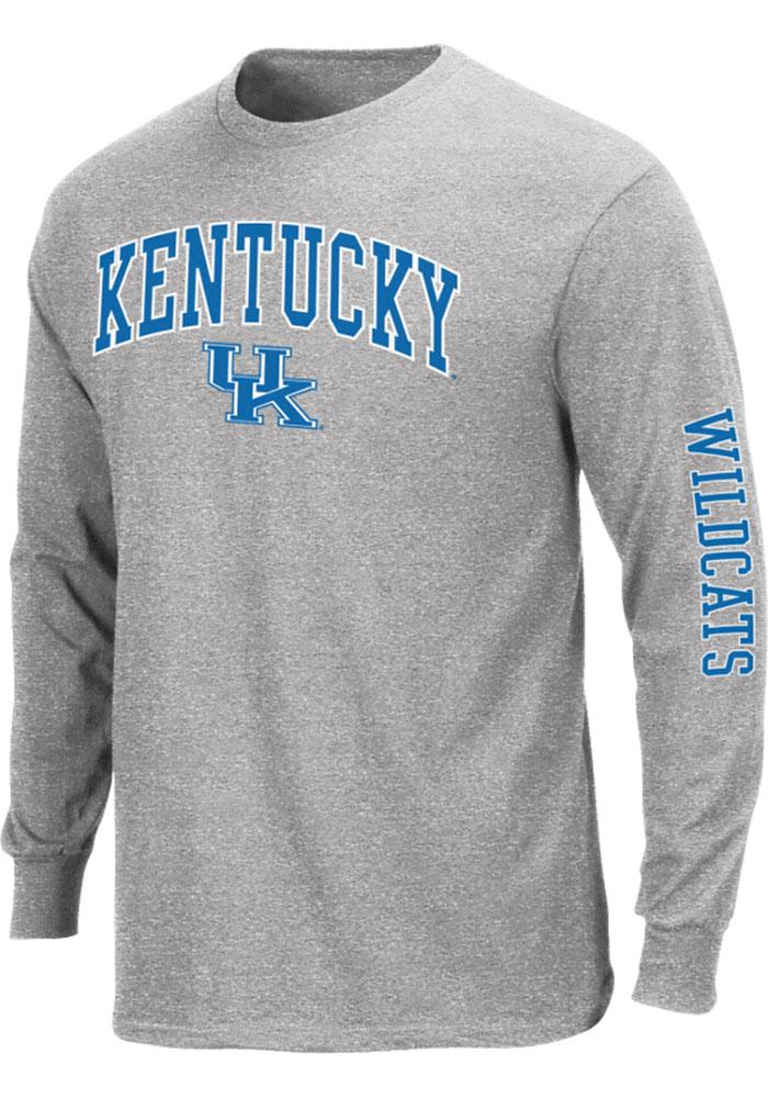 Majestic Kentucky Wildcats Mens Grey Arch Long Sleeve T Shirt - Image 1