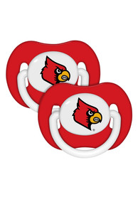 Louisville Cardinals Baby Team Color 2 pack Pacifier - Red