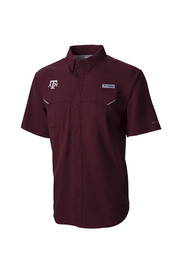 Columbia Texas A&M Mens Maroon Super Bonehead Dress Shirt