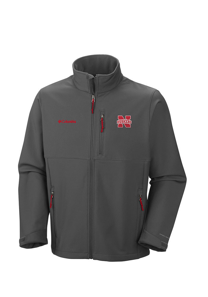 Columbia Nebraska Cornhuskers Mens Grey Ascender Medium Weight Jacket - Image 1