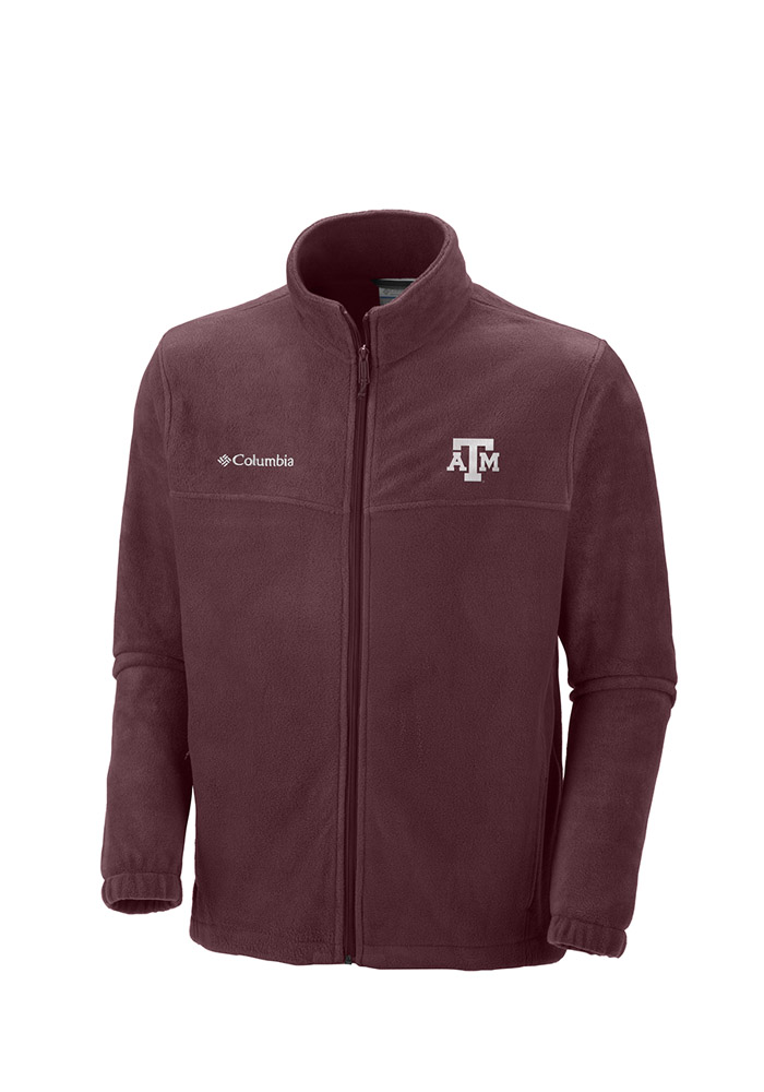 Columbia Texas A&M Aggies Mens Maroon Flanker 2 Light Weight Jacket - Image 1