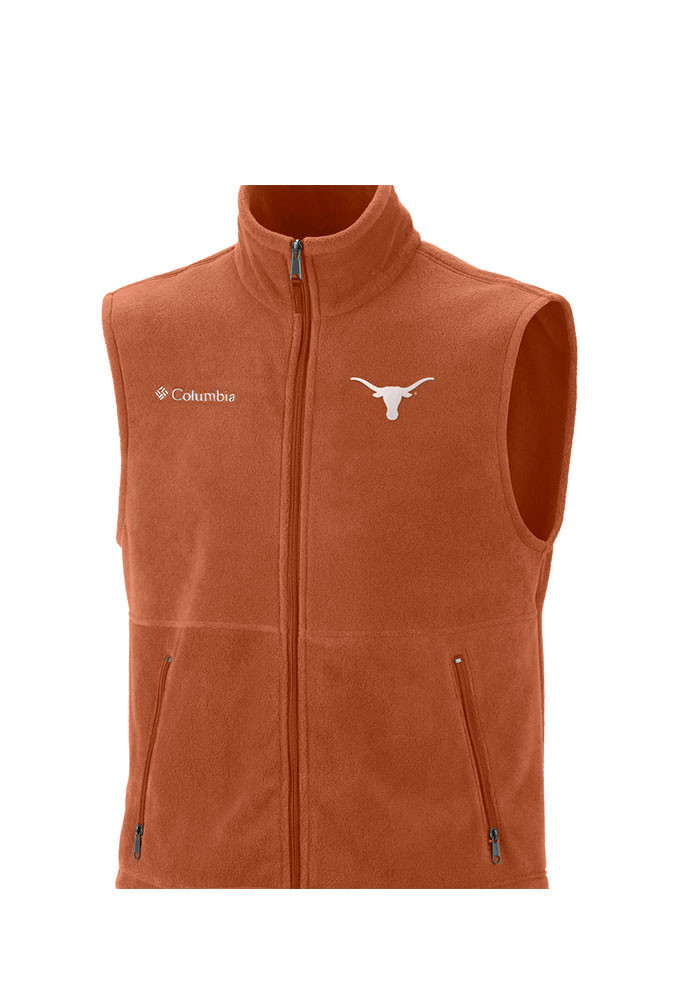 Columbia Texas Longhorns Mens Orange Flanker Sleeveless Jacket - Image 1