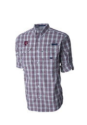 Columbia Texas A&M Aggies Mens Maroon Super Bonehead Dress Shirt