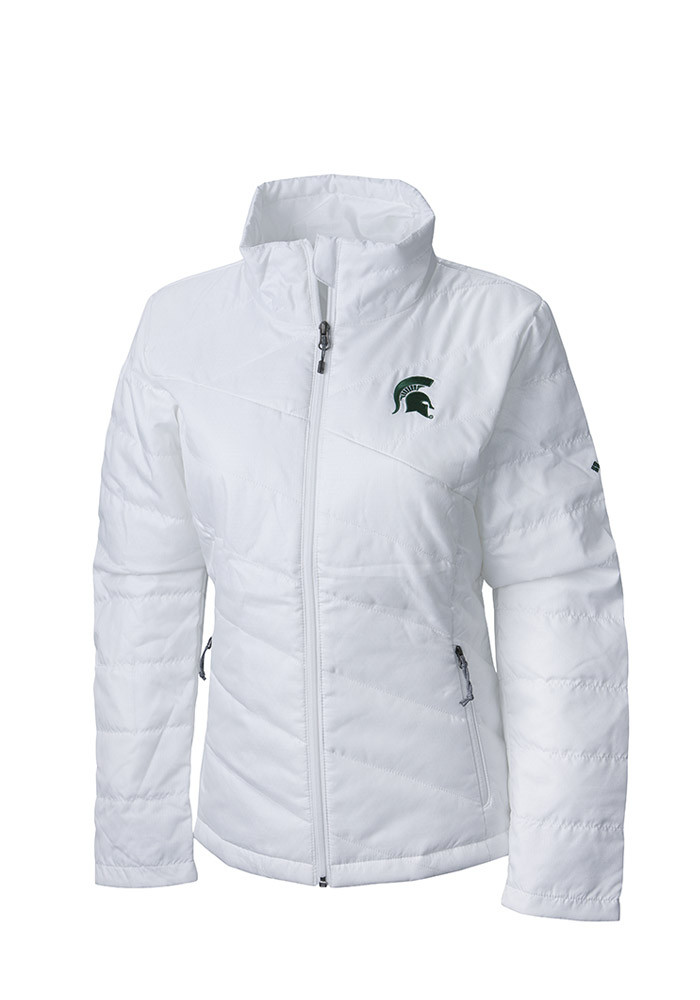 Columbia Michigan State Spartans Womens White Powder Puff Heavy Weight Jacket - Image 1