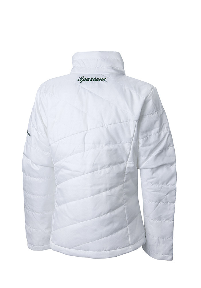 Columbia Michigan State Spartans Womens White Powder Puff Heavy Weight Jacket - Image 2