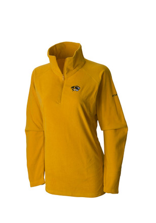 Columbia Missouri Tigers Womens Glacial Yellow 1/4 Zip Pullover