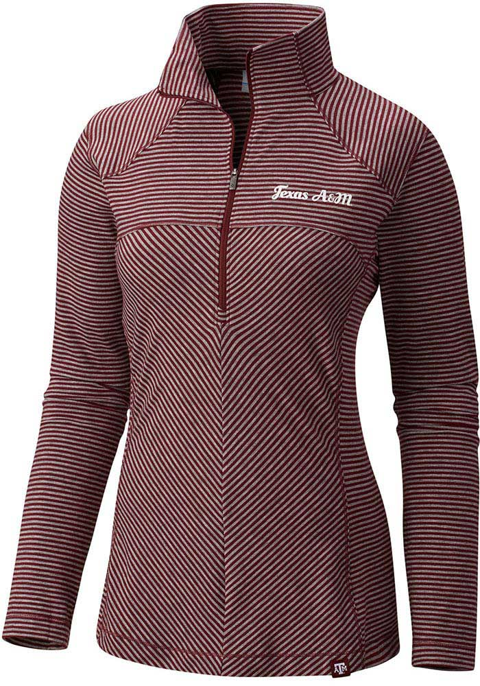 Columbia Texas A&M Aggies Womens Layer First Maroon 1/4 Zip Pullover