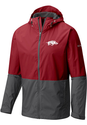 Columbia Arkansas Razorbacks Mens Red Roan Mountain Light Weight Jacket
