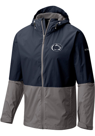 Columbia Penn State Nittany Lions Mens Navy Blue Roan Mountain Light Weight Jacket