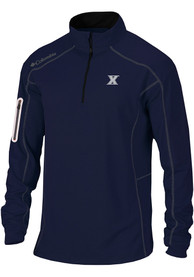 Columbia Xavier Musketeers Navy Blue Shotgun 1/4 Zip Pullover