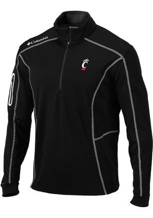 Columbia Cincinnati Mens Black Shotgun 1/4 Zip Performance Pullover