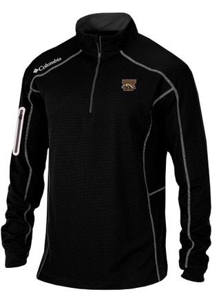 Columbia Western Michigan Broncos Mens Black Shotgun 1/4 Zip Pullover