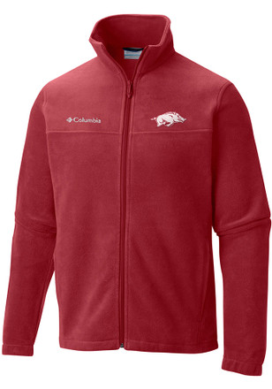 Columbia Arkansas Razorbacks Mens Red Flanker Light Weight Jacket