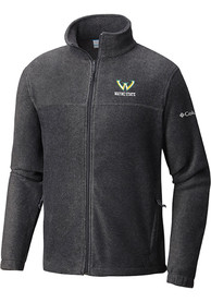 Wayne State Warriors Columbia Flanker Light Weight Jacket - Charcoal