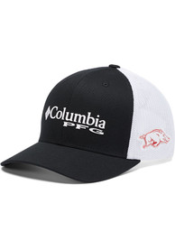 Arkansas Razorbacks Columbia CLG PFG Mesh Adjustable Hat - Black