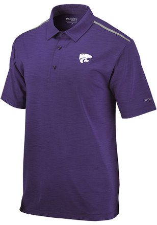Columbia K-State Wildcats Mens Purple Alignment Short Sleeve Polo Shirt