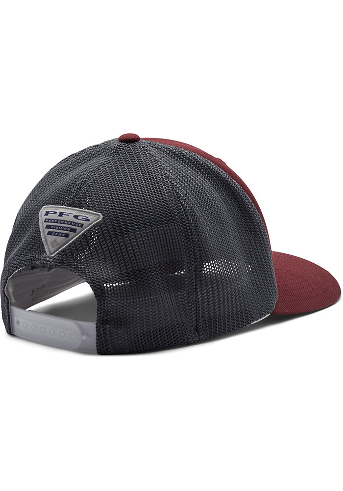 Columbia Texas A&M Aggies CLG PFG Mesh Adjustable Hat - Maroon - Image 2