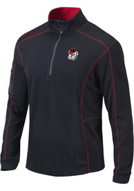 Georgia Bulldogs Columbia Shotgun 1/4 Zip Pullover - Black