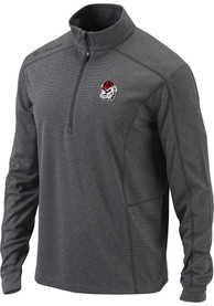 Georgia Bulldogs Columbia Heathered Shotgun 1/4 Zip Pullover - Grey