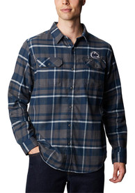 Penn State Nittany Lions Columbia Flare Gun Flannel Dress Shirt - Navy Blue