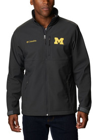 Michigan Wolverines Columbia Ascender Heavyweight Jacket - Charcoal