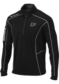 Purdue Boilermakers Columbia Shotgun 1/4 Zip Pullover - Black