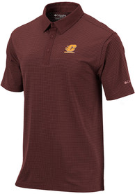 Central Michigan Chippewas Columbia Sunday Polo Shirt - Maroon