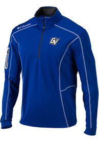 Grand Valley State Lakers Columbia Shotgun 1/4 Zip Pullover - Blue