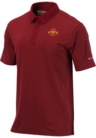 Columbia Iowa State Cyclones Red Sunday Short Sleeve Polo Shirt