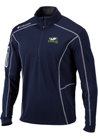 Columbia La Salle Explorers Navy Blue Shotgun 1/4 Zip Pullover