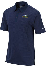 Columbia La Salle Explorers Navy Blue Sunday Short Sleeve Polo Shirt