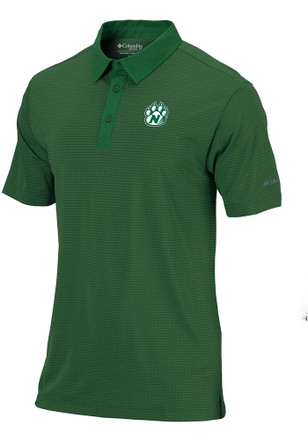 Columbia Northwest Missouri State Bearcats Mens Green Sunday Short Sleeve Polo Shirt