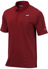 Temple Owls Columbia Sunday Polo Shirt - Red