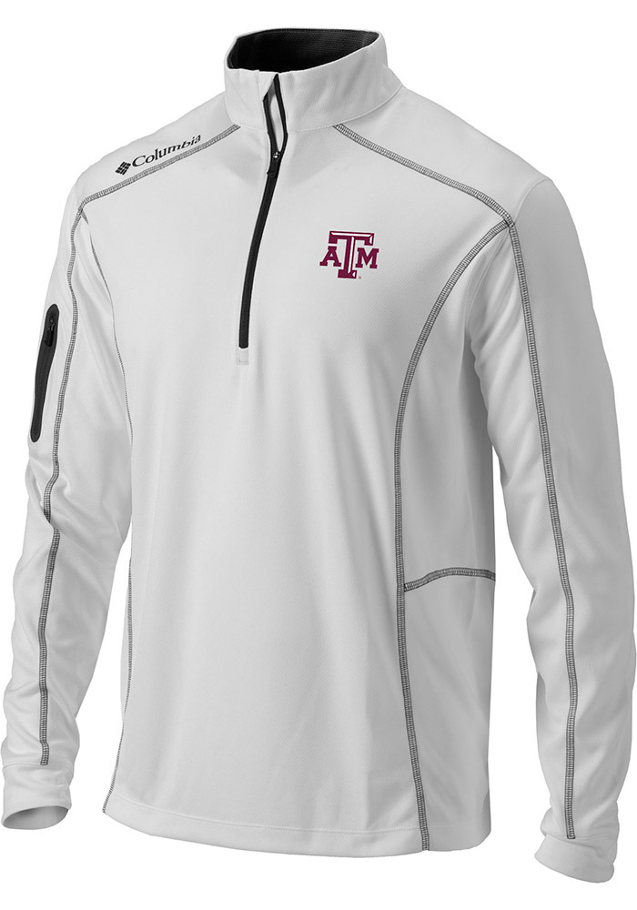 Texas A&M Aggies Columbia Shotgun 1/4 Zip Pullover - White