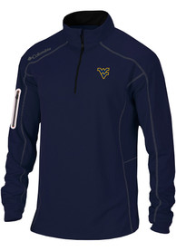 Columbia West Virginia Mountaineers Navy Blue Shotgun 1/4 Zip Pullover