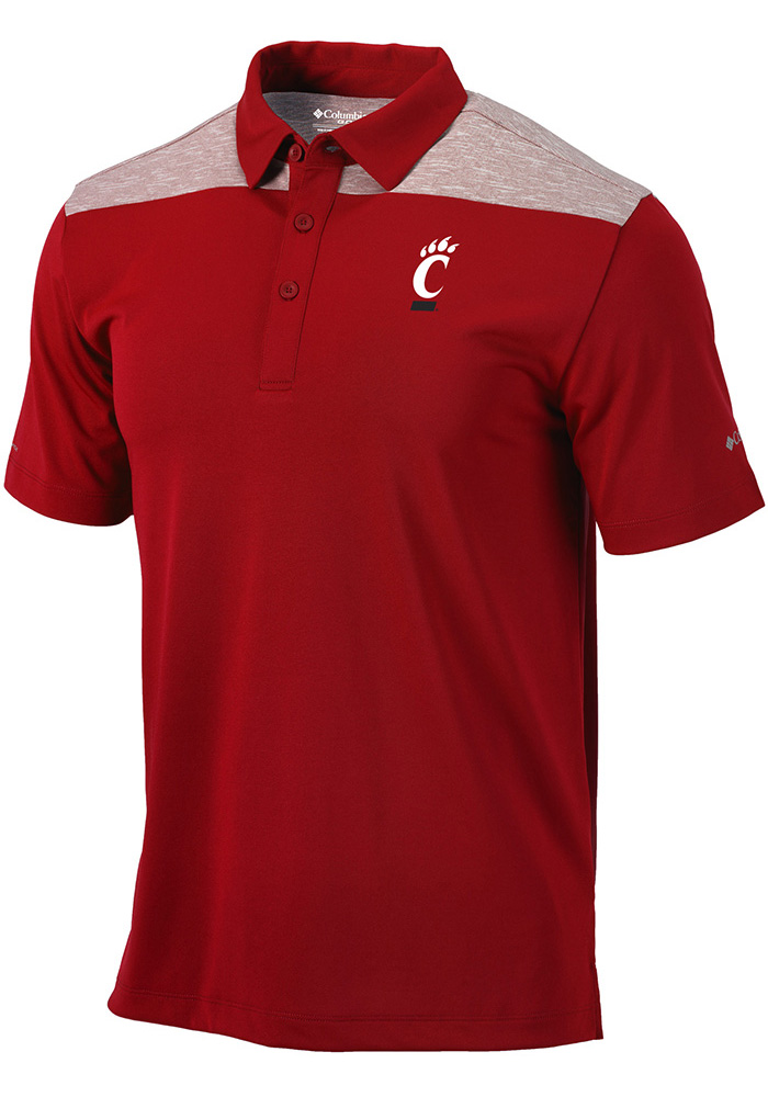 72f5491cd Columbia Cincinnati Bearcats Red Utility Short Sleeve Polo Shirt